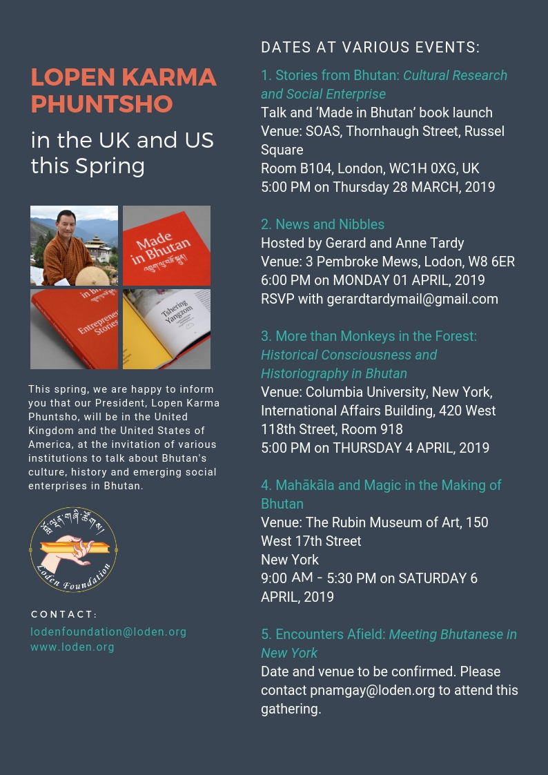 Join Dr Karma Phuntsho in the UK and US this Spring 2019   Loden